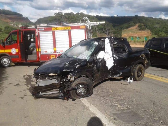 Acidente na BR-262 em Manhuaçu MG