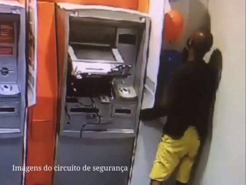 PM e PC prendem autor de tentativa de furto à banco