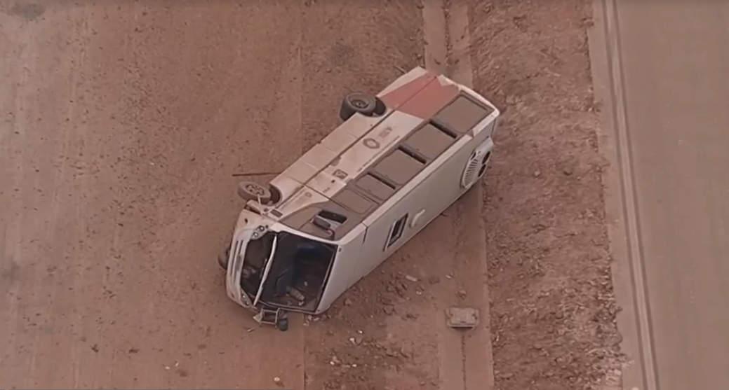 Acidente com micro-ônibus da Prefeitura de Simonésia deixa 12 feridos na BR-381