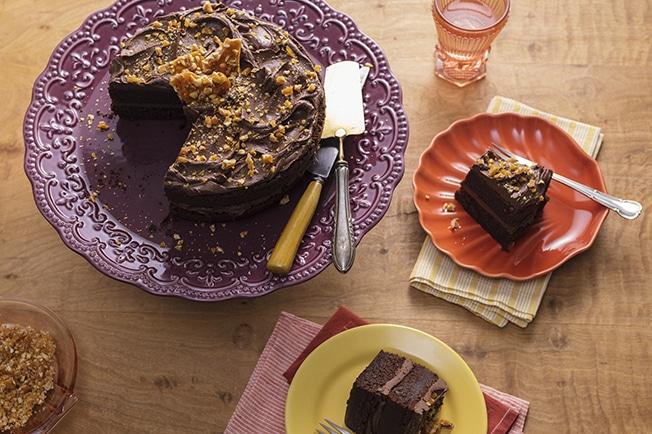 Bolo de chocolate com amendoim-receita